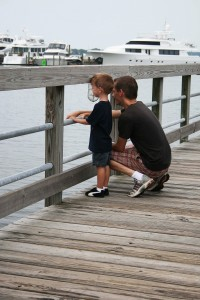 dad and son on the pier file9931300812873